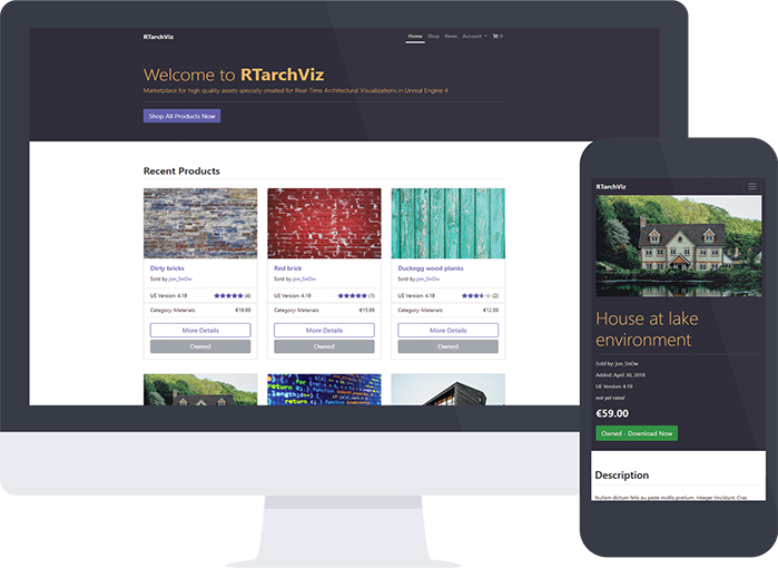 RTarchViz - project | Sebastian Kulig - Full Stack Web Developer