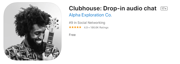 Clubhouse App Store Listing