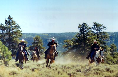 My desperate attempt at capturing the wild west, for the Powderhorn Guest Ranch website. It took so many attempts to get this shot. And yes, these were the days of 35mm film.