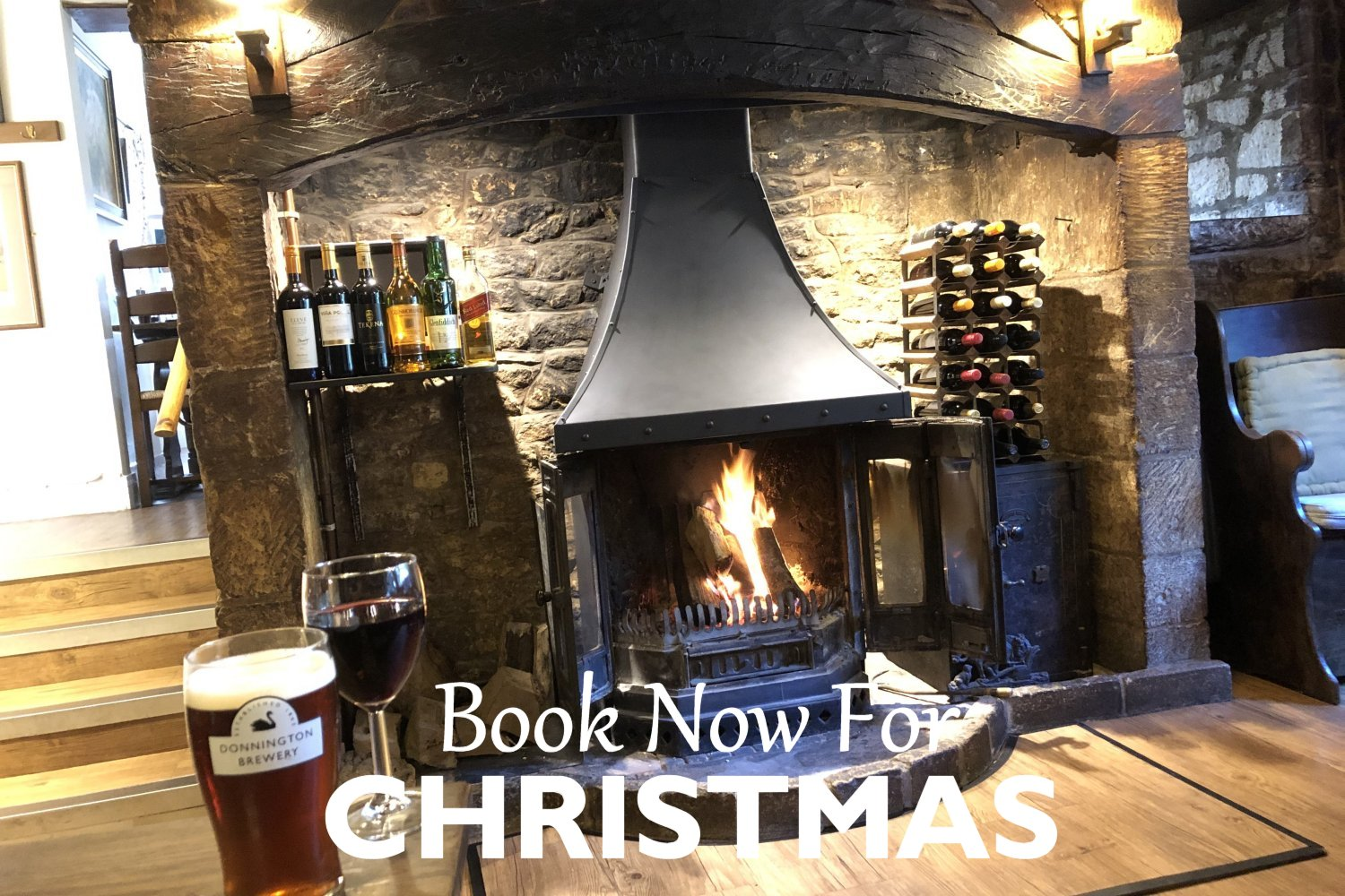 Christmas at The Plough at Ford, Cotswold pub food, Sunday lunch & drink at its best