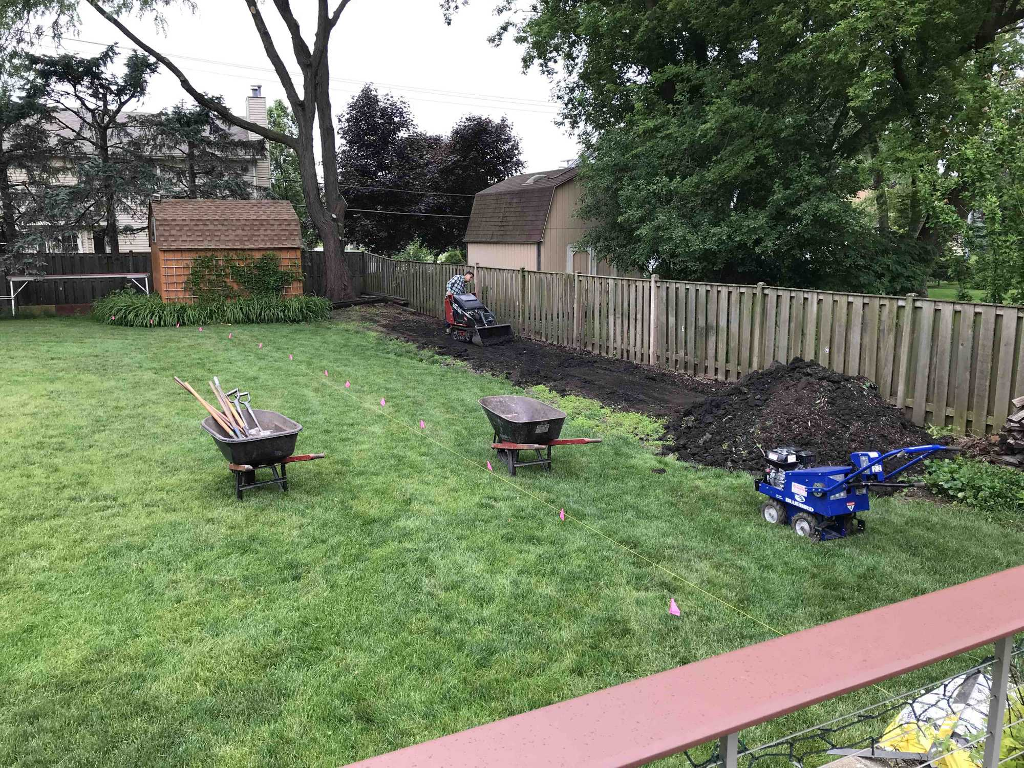 Excess dirt removal