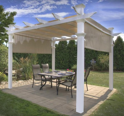 Diy vinyl pergola kits for your backyard delivered throughout vinyl pergolas backyard shade structures in do it yourself kits solutioingenieria