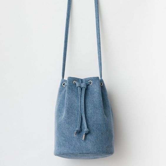 Sac bourse en jean recyclé