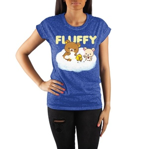 Rilakkuma Crew Neck Rolled Sleeve T Shirt