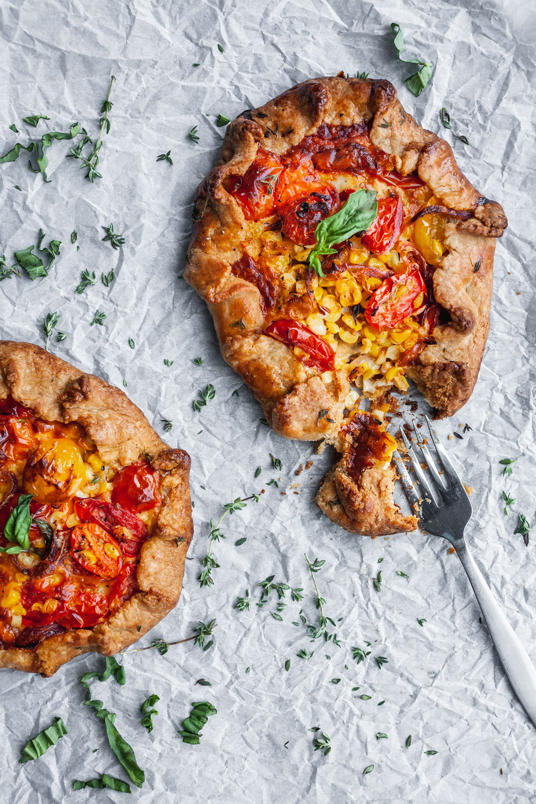Savoury Corn and Tomato Tartlets