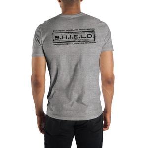 Marvel S.H.I.E.L.D. Grey Short-Sleeve T-Shirt