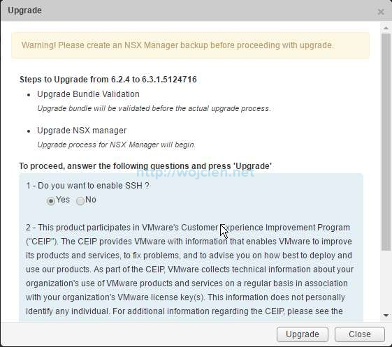 Upgrade of NSX 6.2.4 to NSX 6.3.1 - 4
