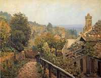 'Sentier de la Mi-cote, Louveciennes', painted by Alfred Sisley in 1873