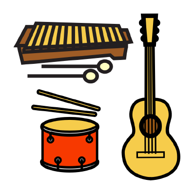logo, a collection of instruments