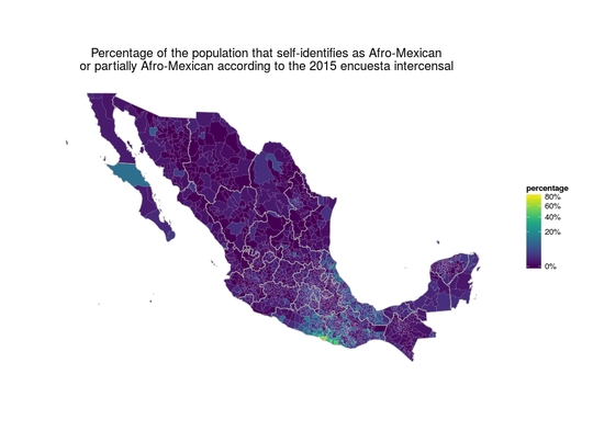 Afro-Mexican population in Mexico