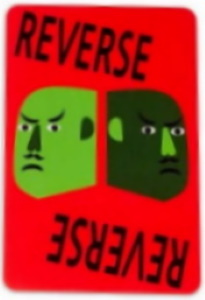 Uno Artiste No. 3: Nina Chanel Abney Red Uno Reverse Card