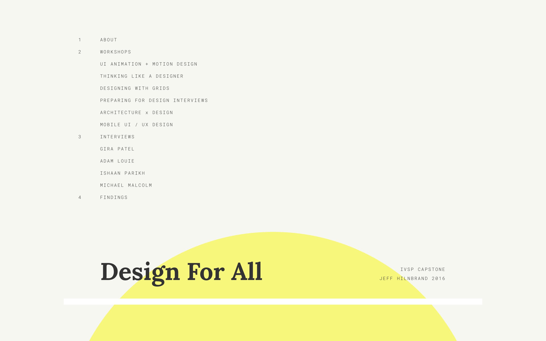 Capstone: Design For All logo