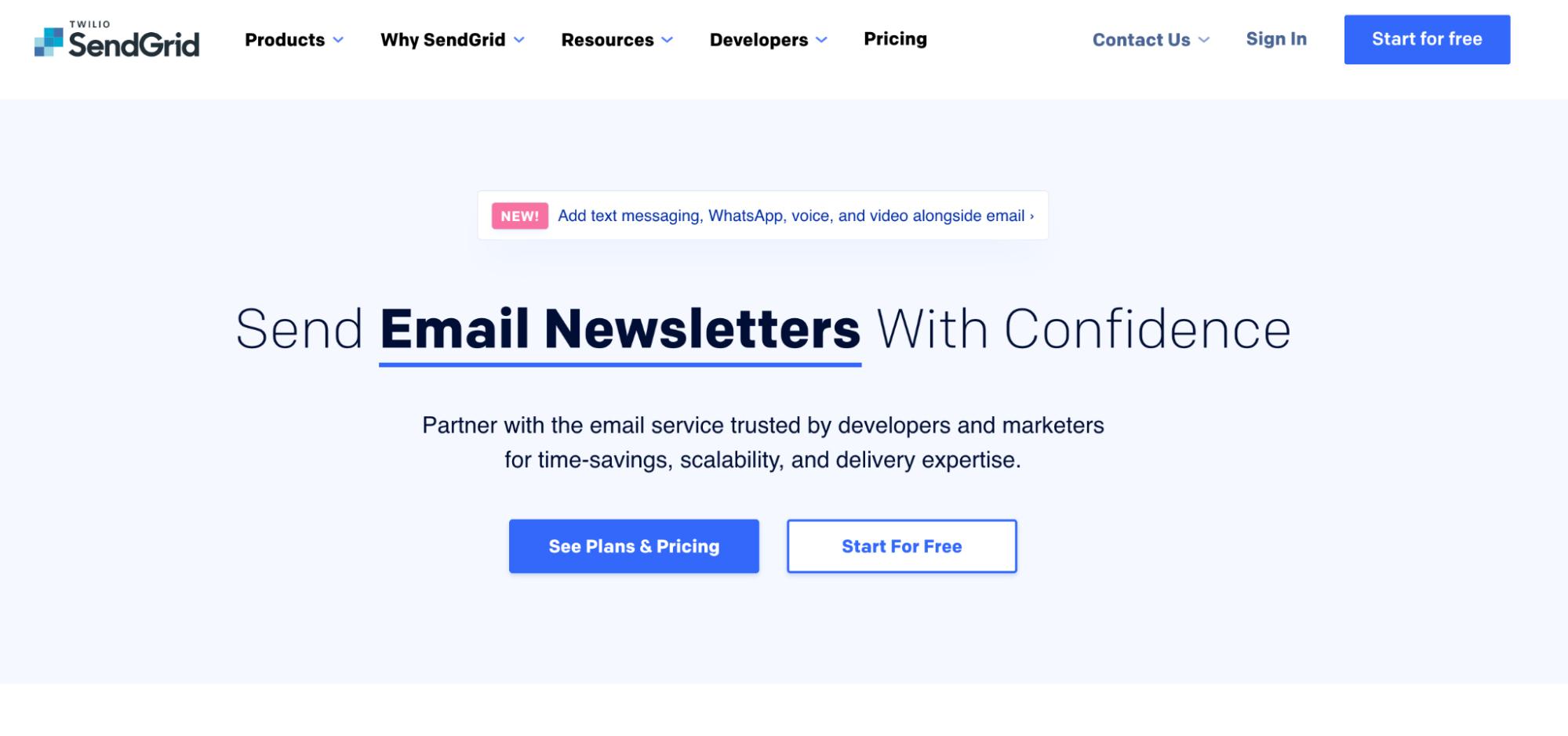 SaaS Marketing Automation Tools: SendGrid Screenshot
