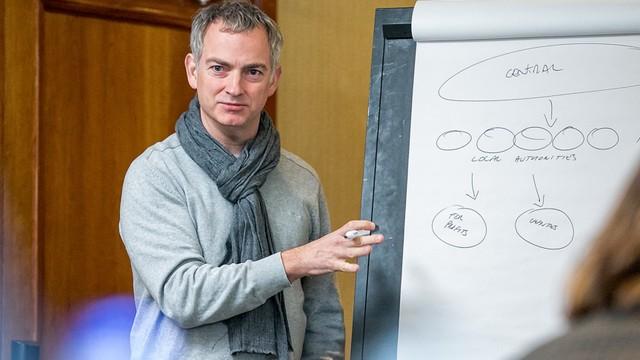 A proffesor teaching
