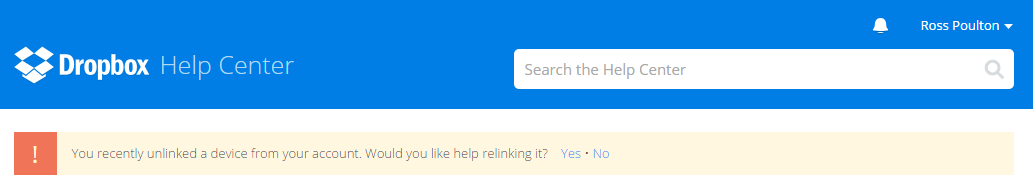 Nice UX Touch from Dropbox