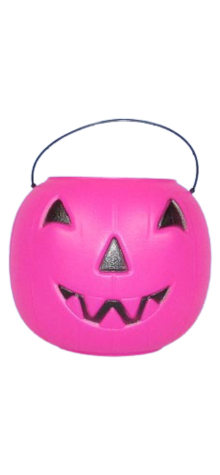 Pink Big Jack Pumpkin Pail With Handle photo