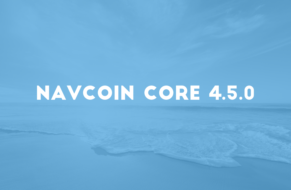 NavCoin Core 4.5.0