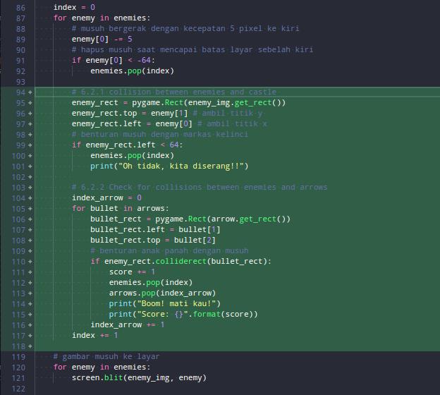 kode untuk mendeteksi benturan