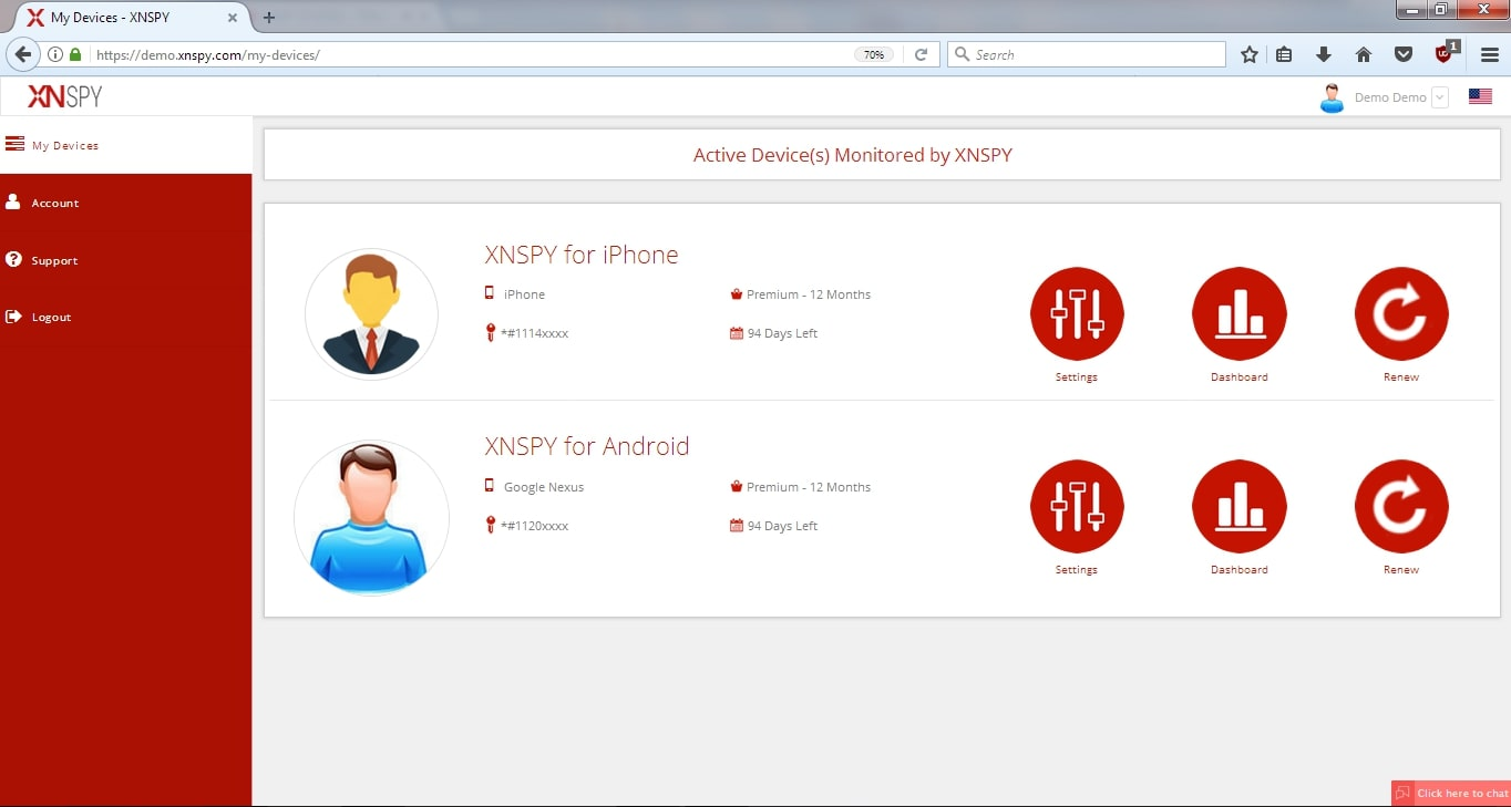 XNSPY spy software on any Android & iPhone