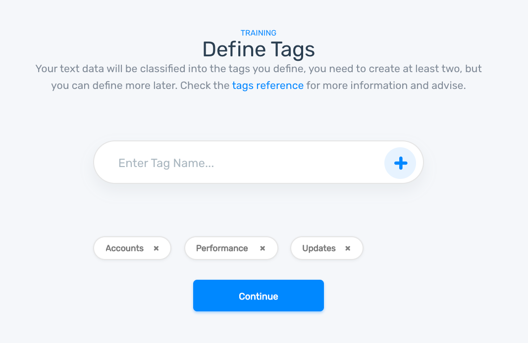 defining tags for the aspect classifier