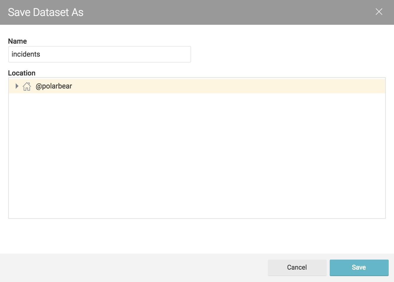 Saving a dataset