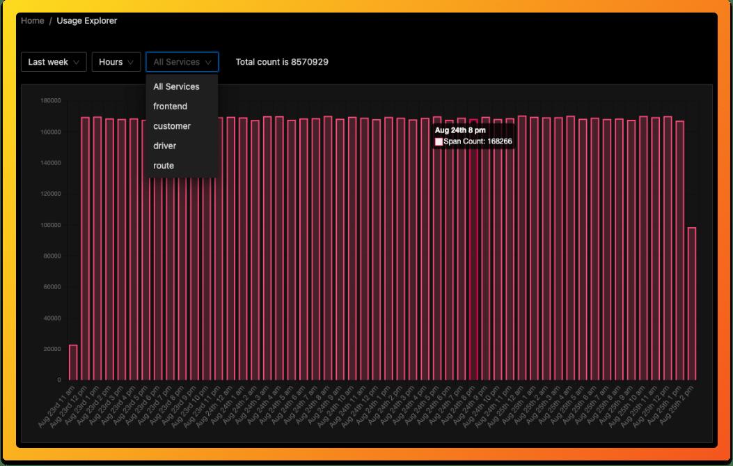 Transparent usage data