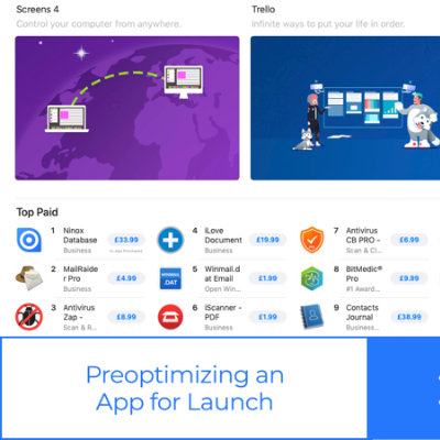 Preoptimizing an App for Launch