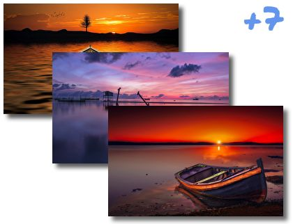 Boats In Sunset theme pack