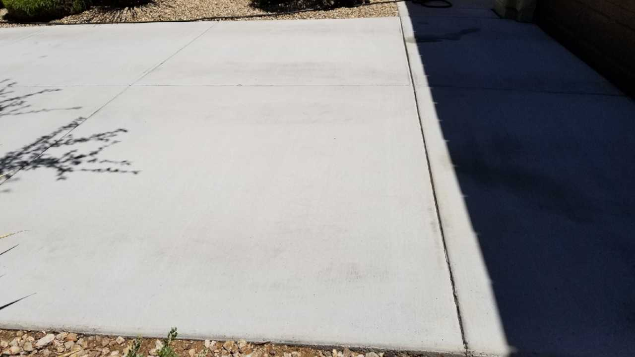 Second driveway after cleaning different angle