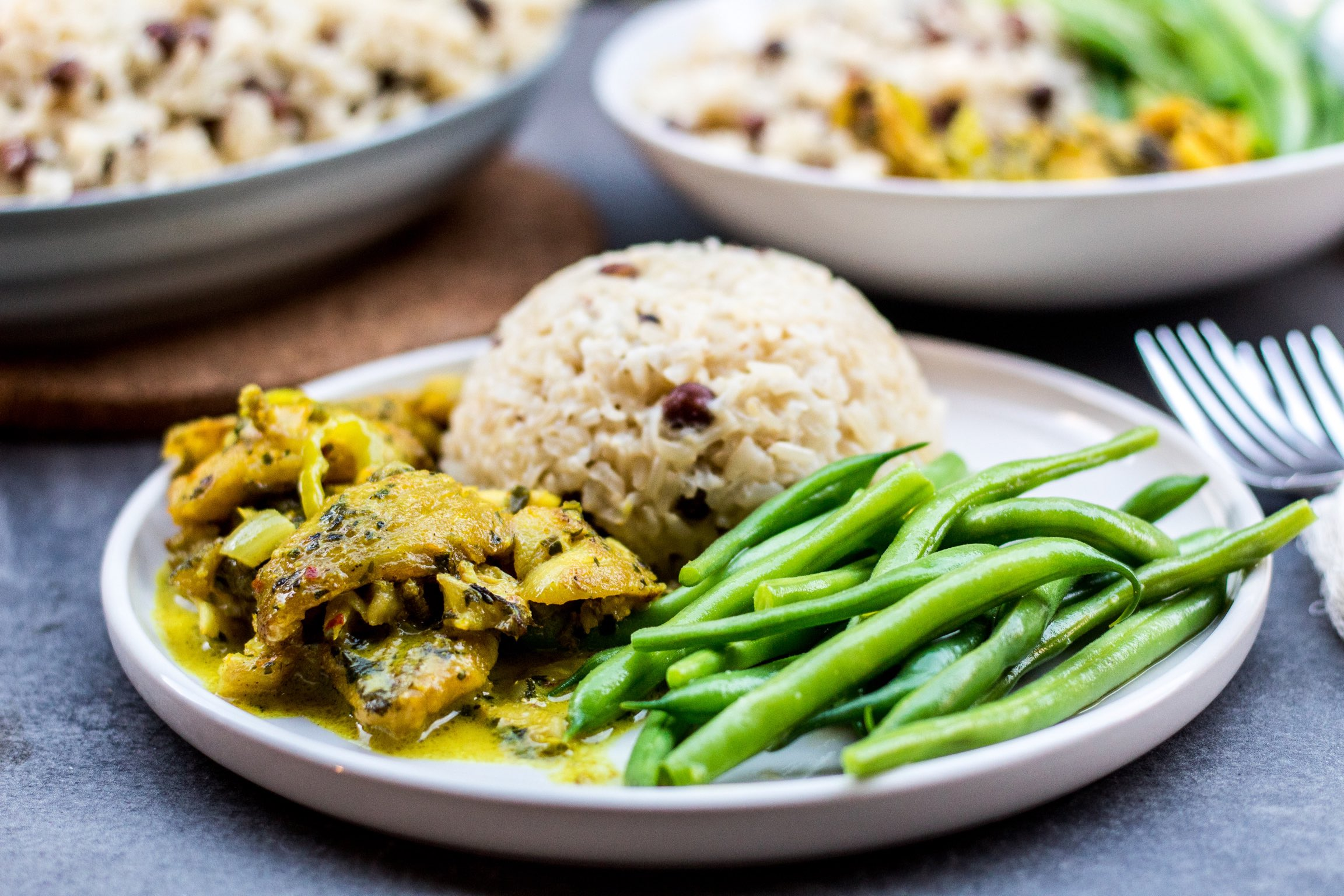 Coconut curry fish