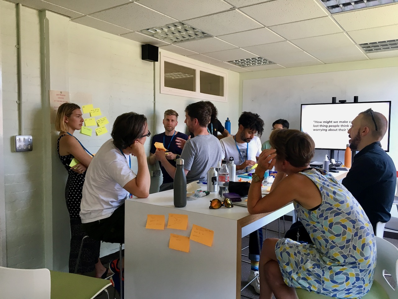 I ran an ideas workshop with some brilliant stakeholders and other designers to explore how we could solve VAT tracking end-to-end.