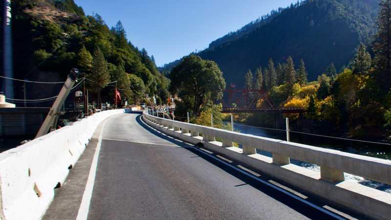 A single open lane on California Highway 70