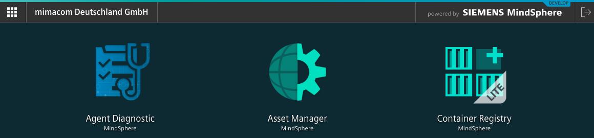 MindSphere Dashboard Showing the Asset Manager Tile