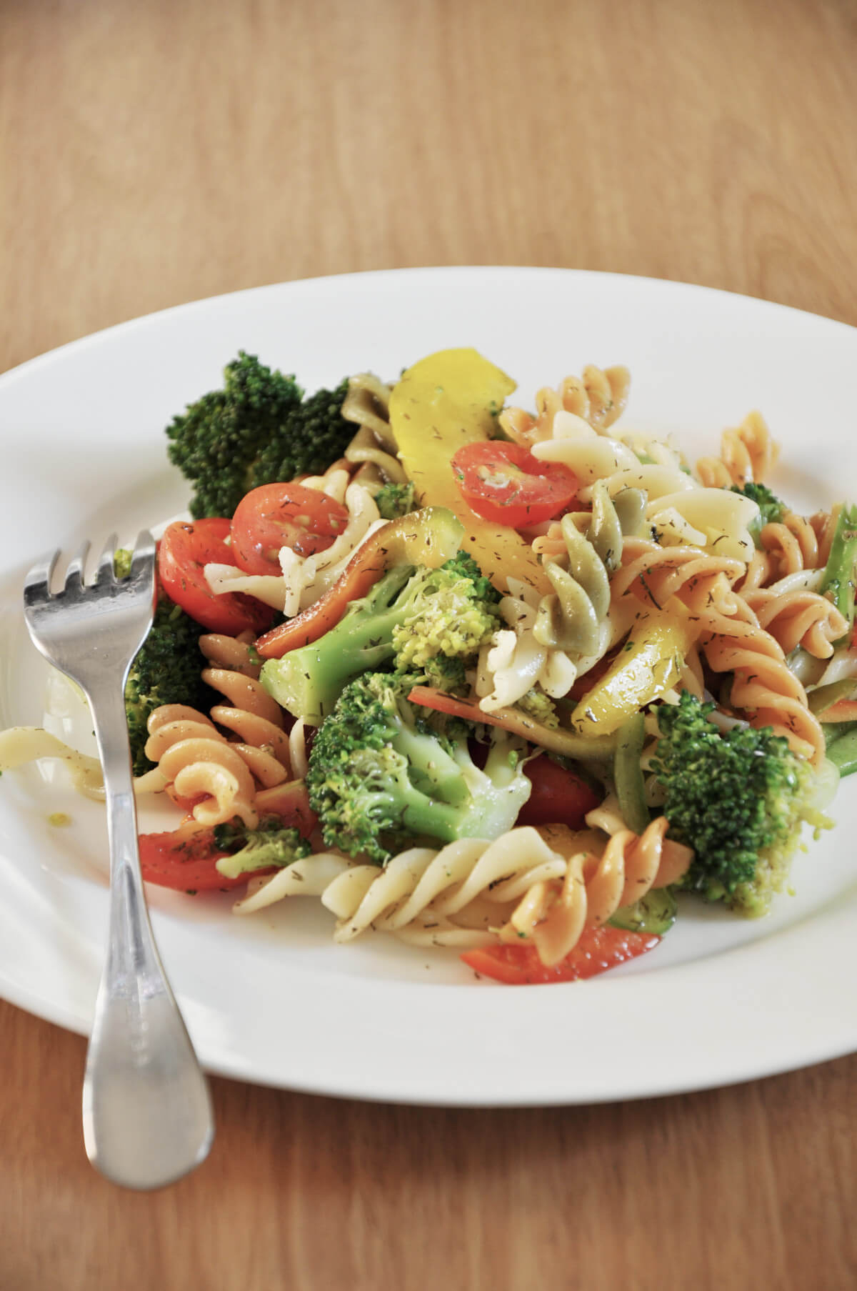 Three Color Pasta Salad with Broccoli