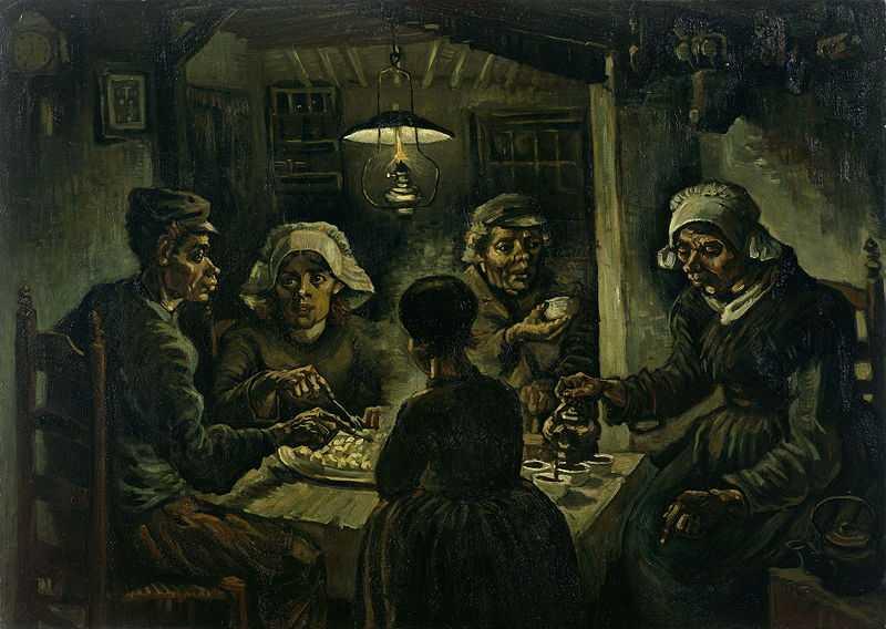 The Potato Eaters by Van Gogh, 1885, Van Gogh Museum, Amsterdam
