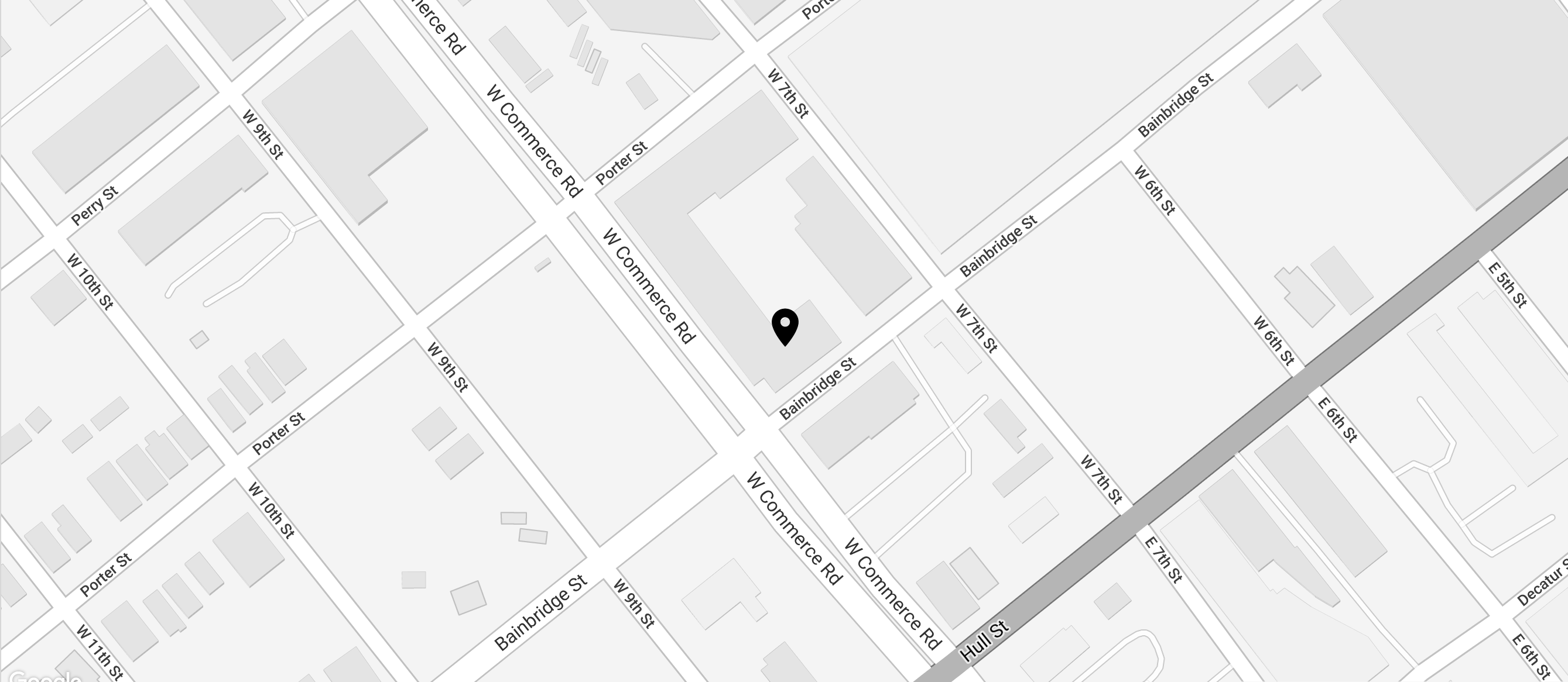 A snippet of a map to Hatcher Tobacco Flats