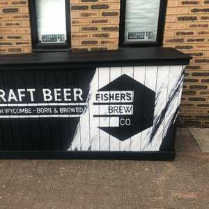 Well look at this chap. Our folding, mobile bar will be rolling out across the land this summer, starting with @thepinkneysarms beer festival next weekend. Artwork by that bloke @decreateuk