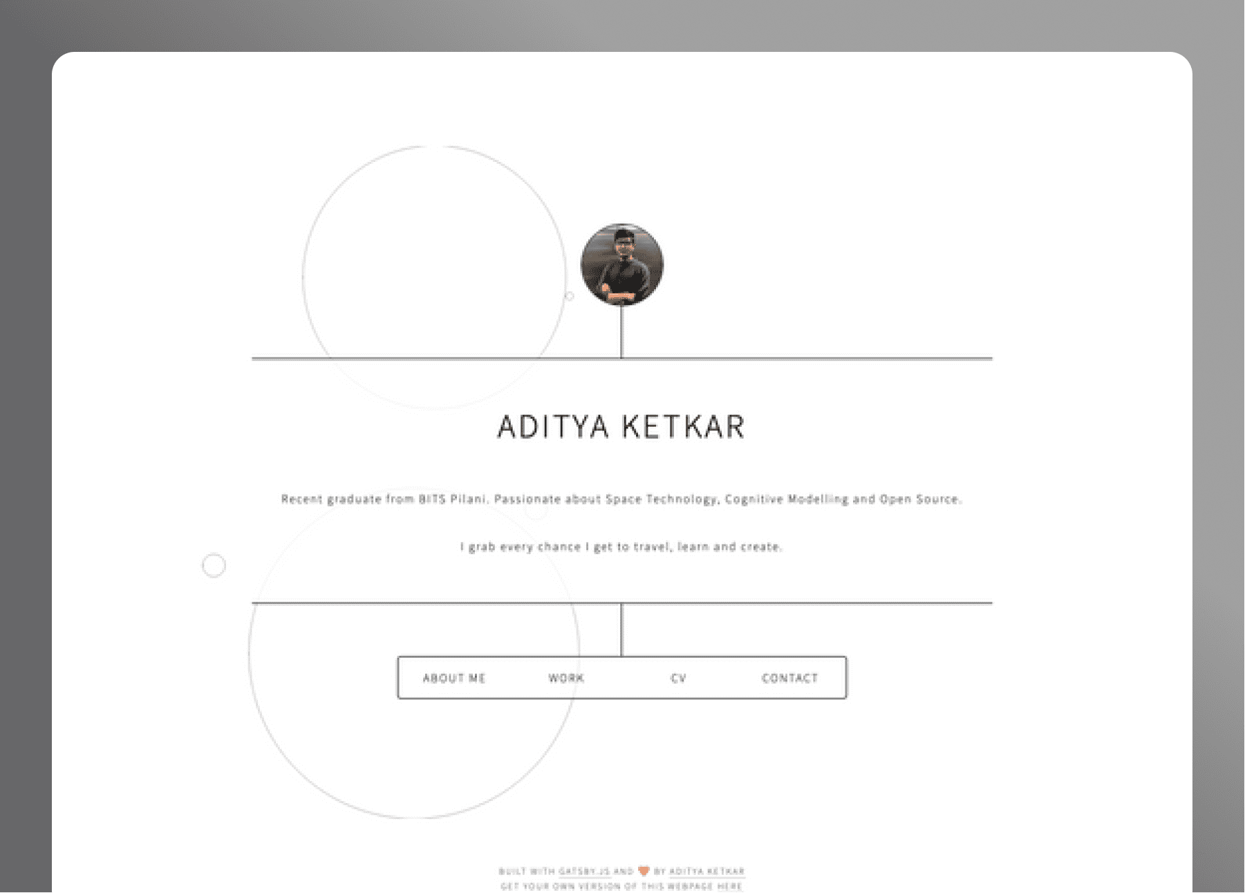 Circle Packing Personal Homepage- cover
