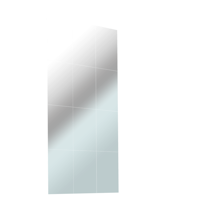 An extruded image of a grid overlay