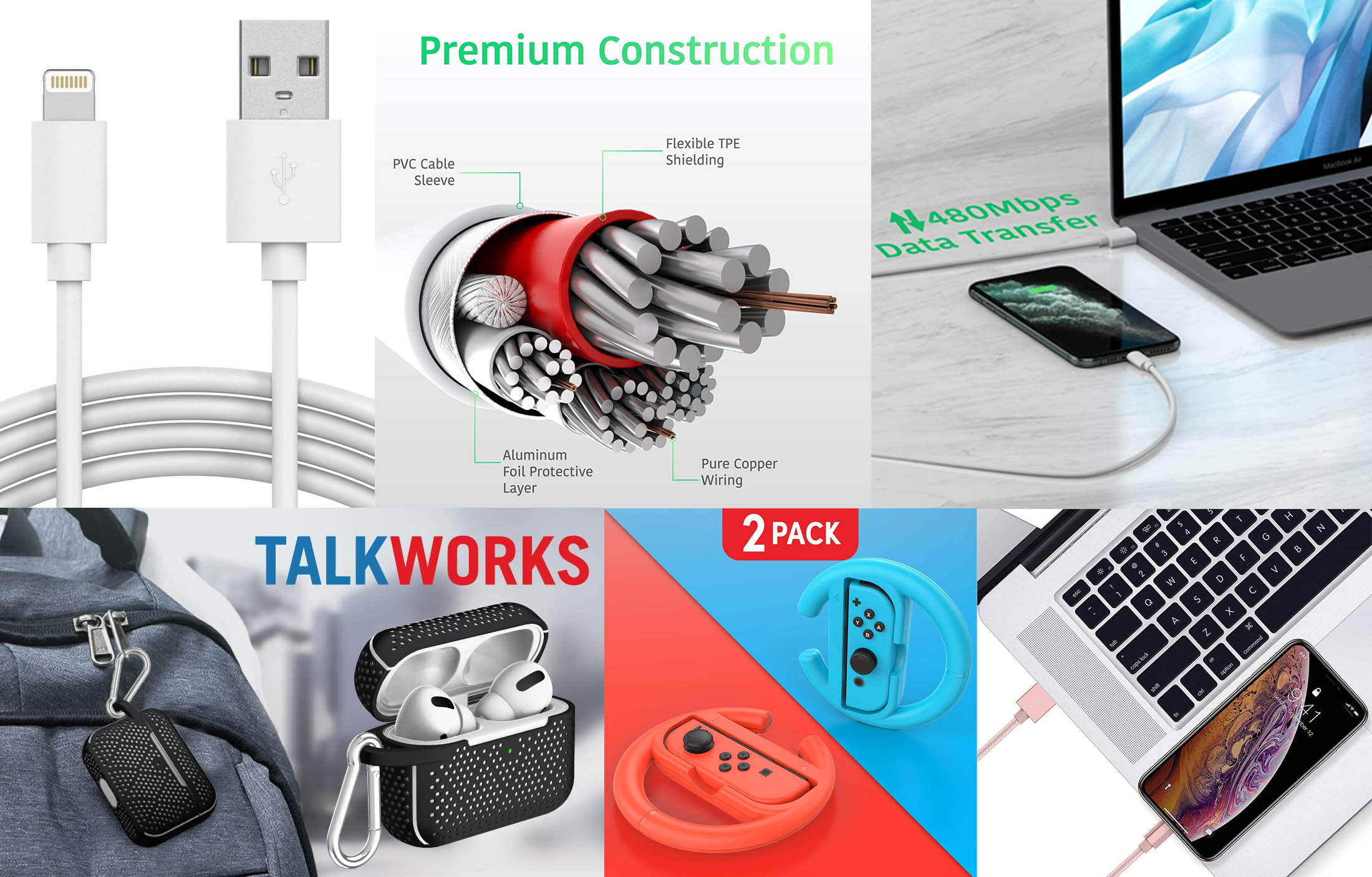 Graphics created for Talkworks on Amazon