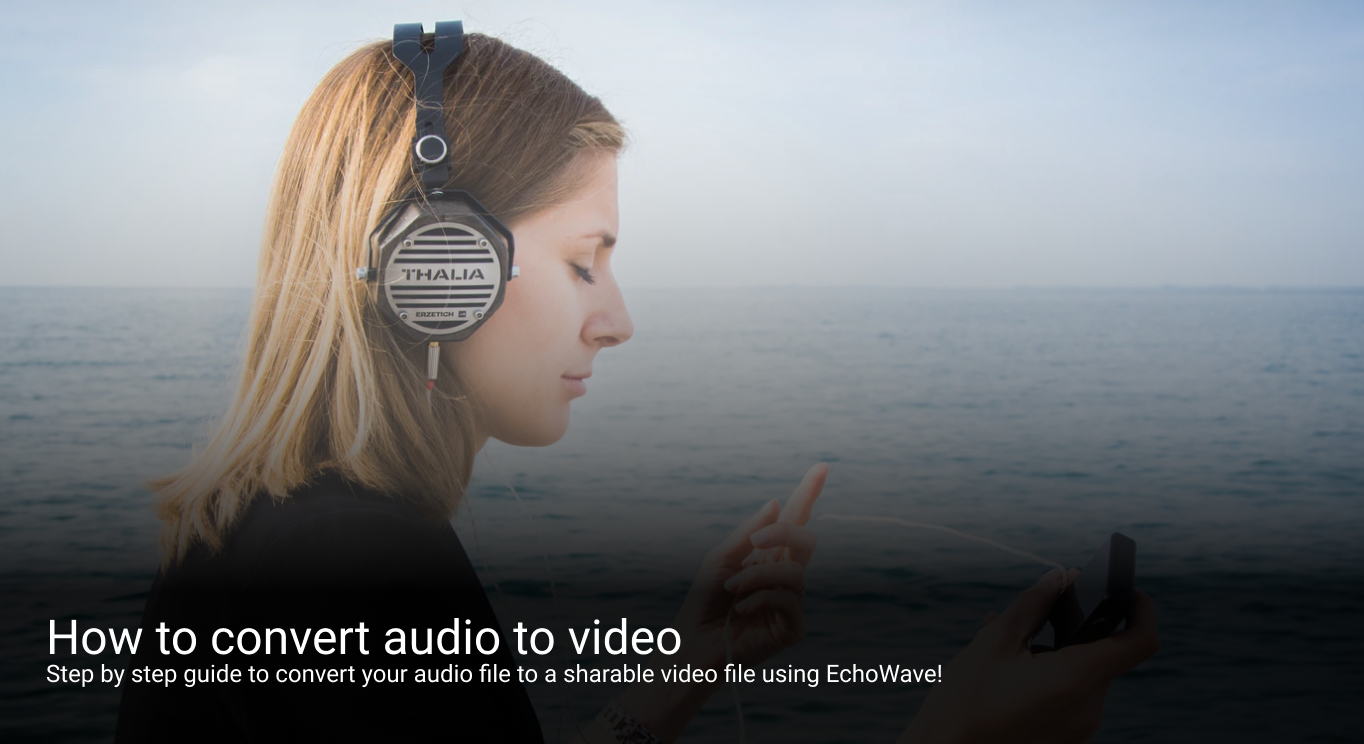 How to convert audio to video