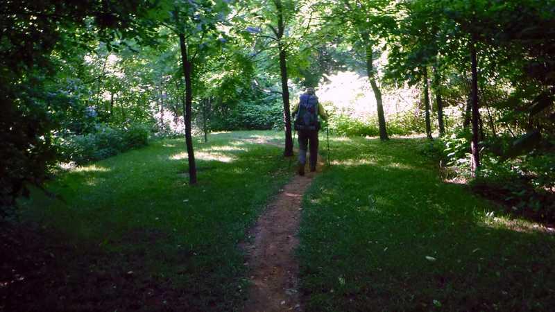 Manicured trail