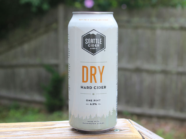 A Dry Hard Cider brewed by Seattle Cider Company
