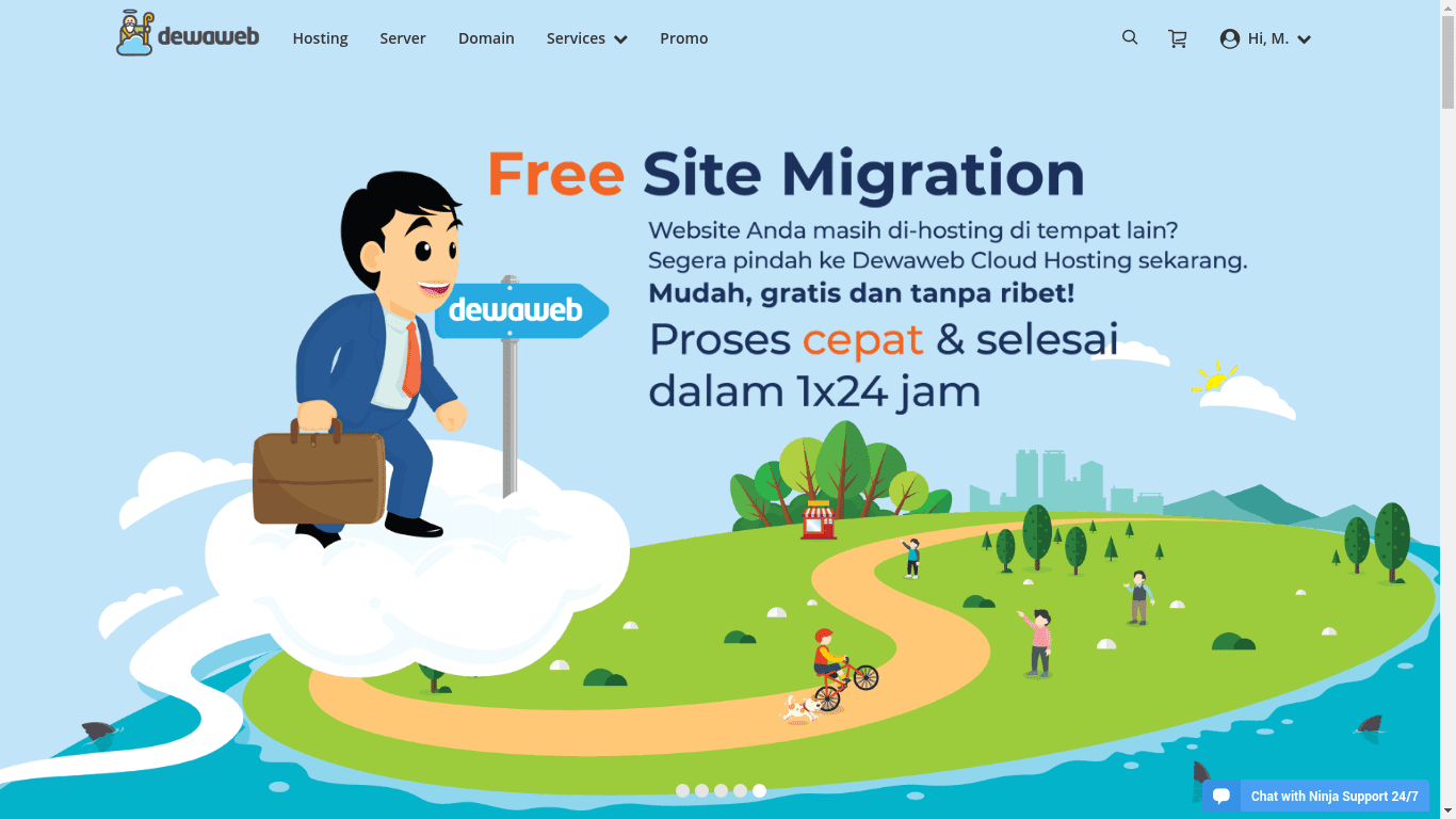 Pengalaman menggunakan hosting Dewaweb
