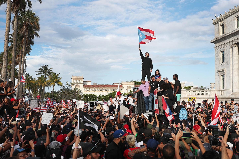 Movilizaciones el mes de julio en San Juan, Puerto Rico.
