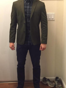 Man wearing a Well fitting Blazer