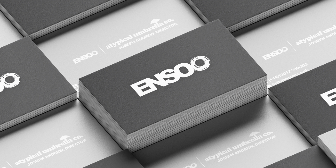 Printed business cards for ENSO O LTD