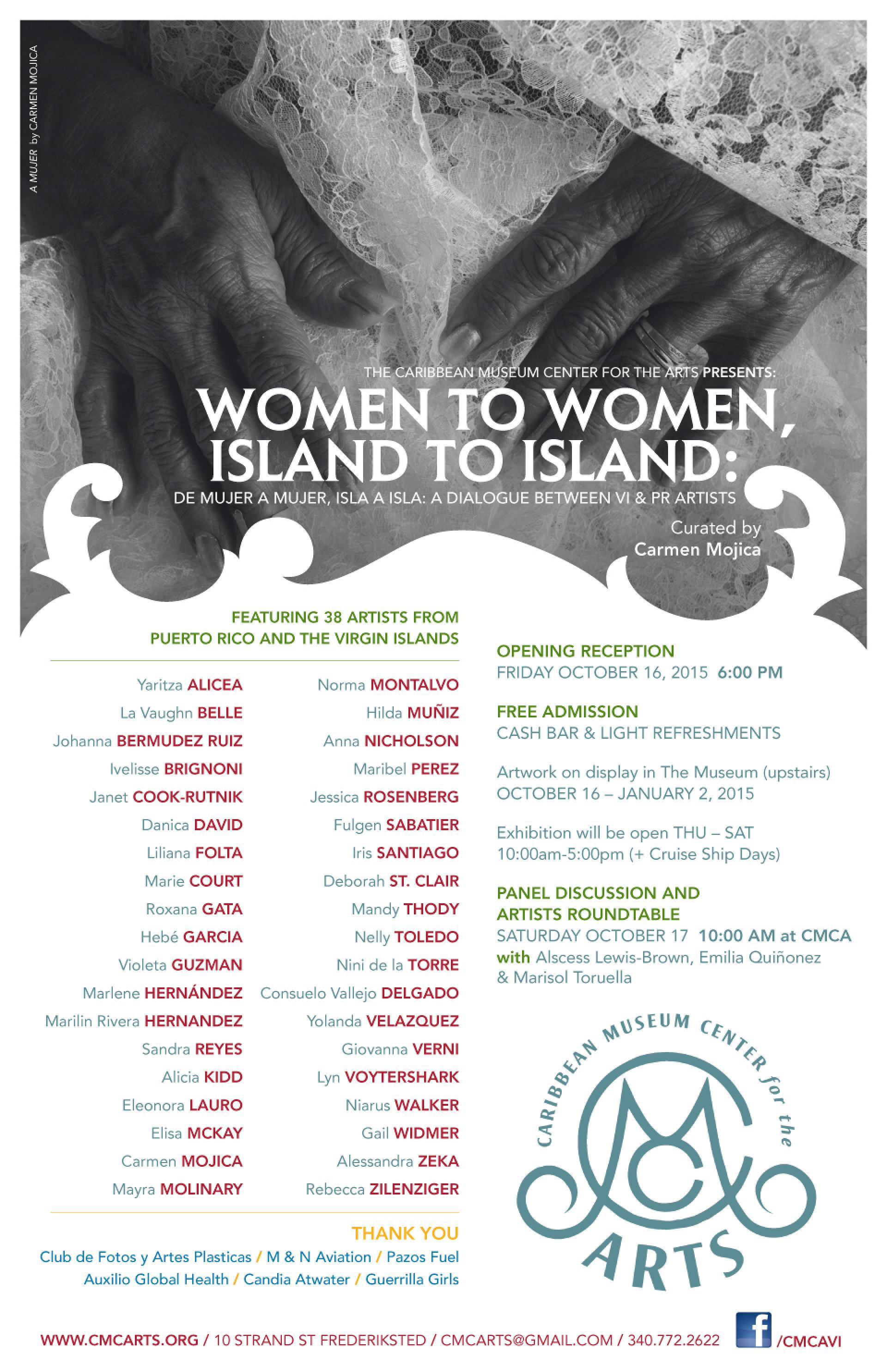 Women to Women, Island to Island A Dialogue event flyer