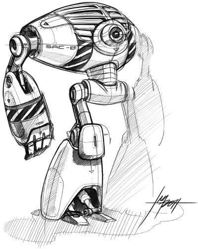 Large Robot Sketch