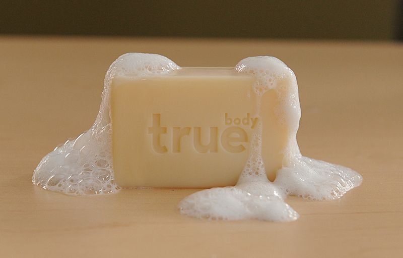 A bar of soap from TrueBody Products